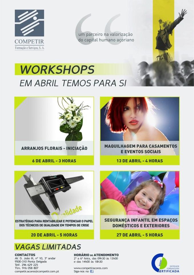 Workshops Ponta Delgada 2013 (Arranjos florais, maquilhagem para casamentos …)
