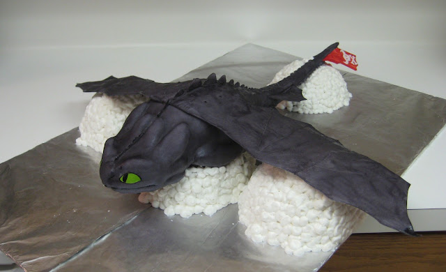 Cake of Toothless from How to Train Your Dragon