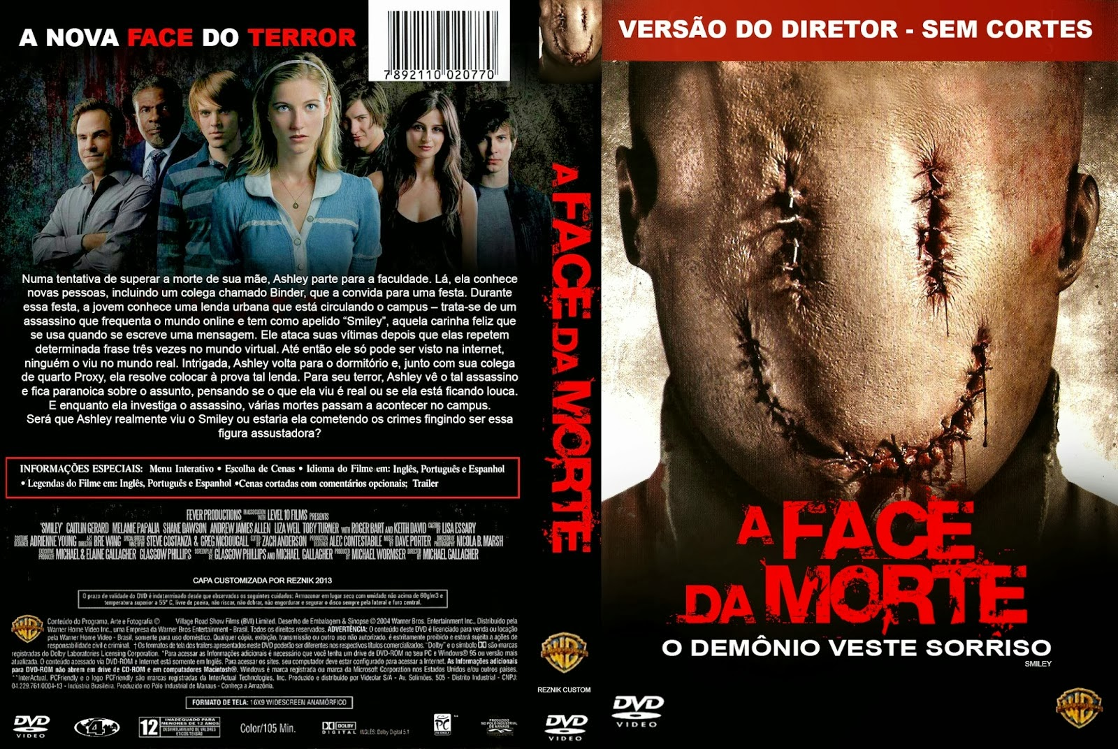 A Face Da Morte DVD Capa