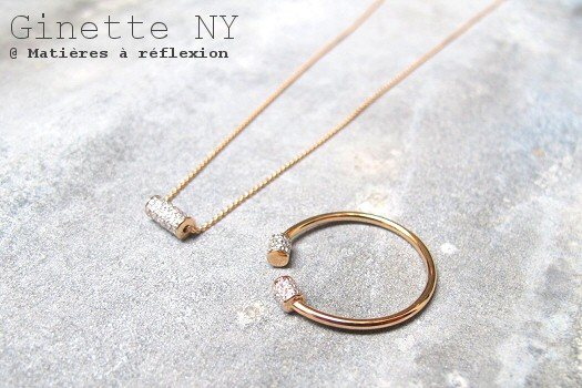 Bijoux or rose et diamants Ginette NY