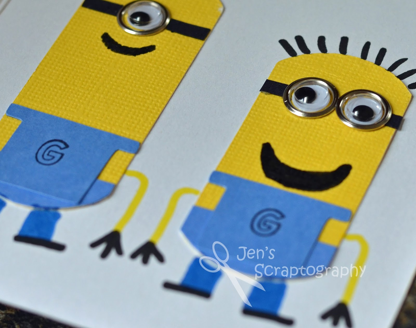 Jens scraptography despicable me minion birthday card bookmarktalkfo Gallery