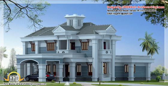 2750 square feet, 4 bhk home elevation design