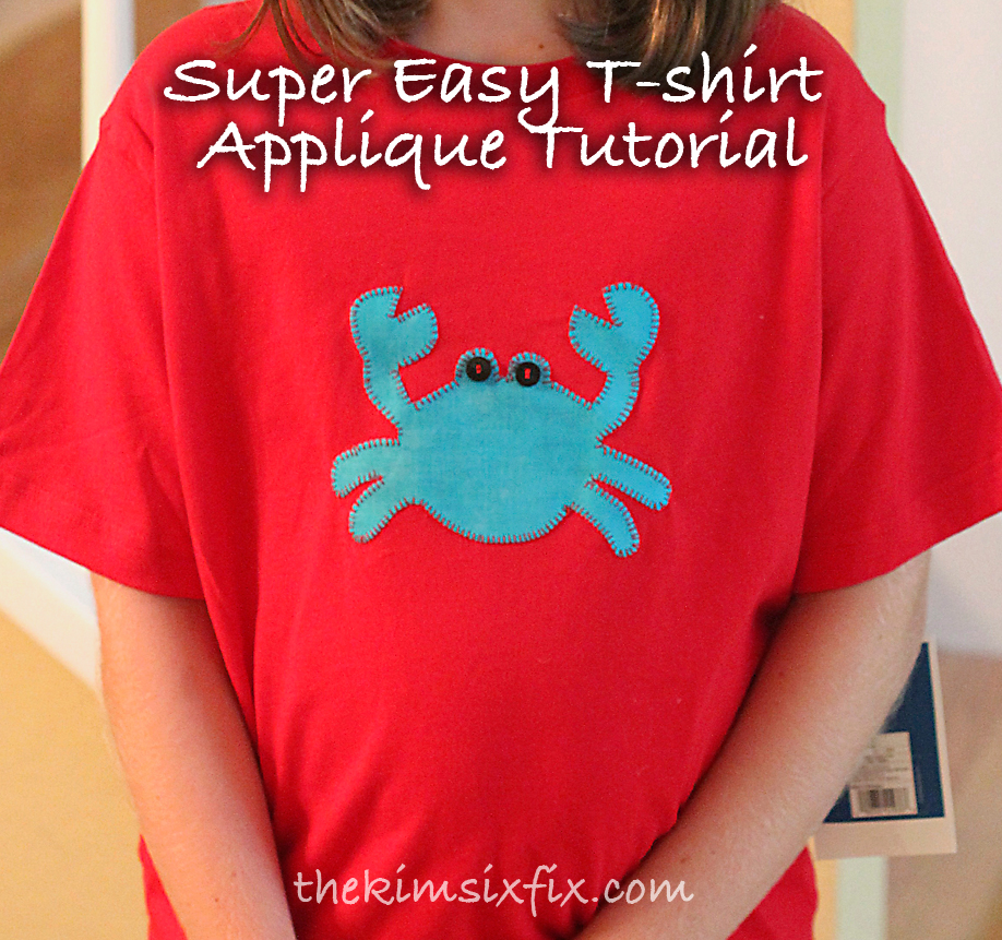 custom appliqued t shirt for less than 10 tutorial