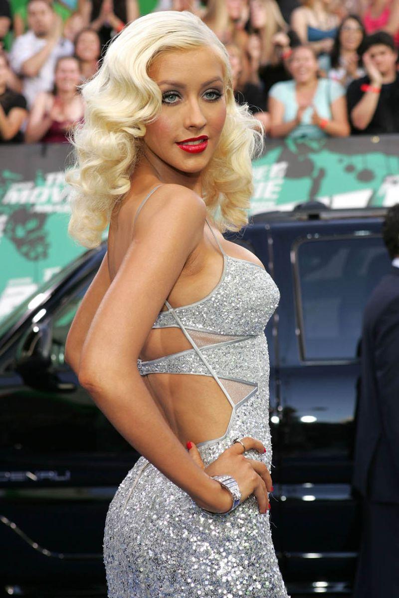 Christina aguilera sexy dress