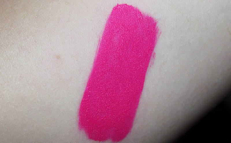 A swatch of MUA LUXE Velvet Lip Lacquer in Criminal