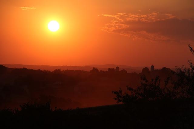 Coucher de soleil sur Rouffiac