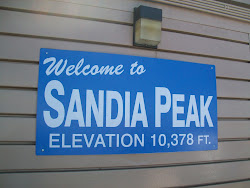 Sandia Peak_Albuquerque, New Mexico_Elevation Sign_at the TOP!