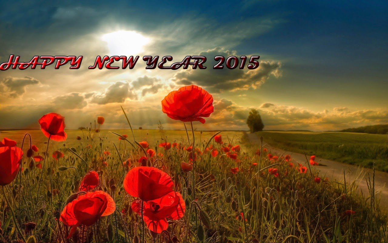 Happy New Year 2015 Roses HD Cards - Wallpapers Free Download