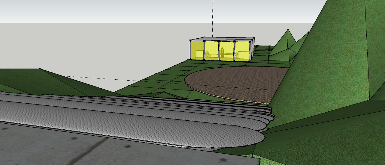 Arch1101 kerre skarparis sketchup model of stairs for Above ground salon
