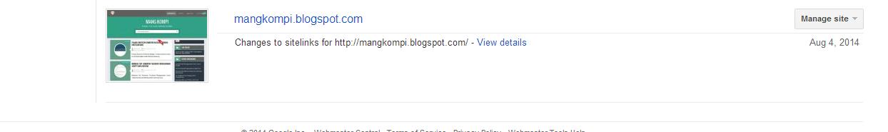 Sitelink blogger