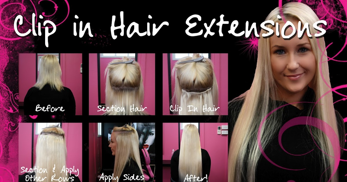Hot Stuff Beauty Blog How To Apply Clip In Hair Extensions
