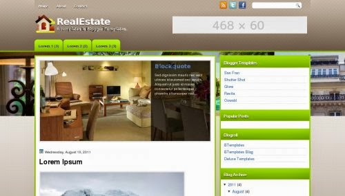 RealEstate - Free Blogger Template