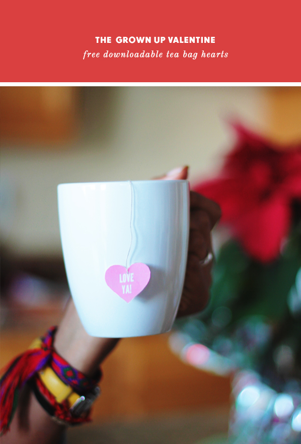 diy valentine's day tea bags