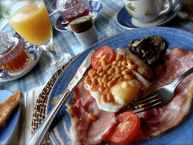 photo of gorgeous spread of a Scottish Breakfast