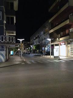 Podgorica bei Nacht