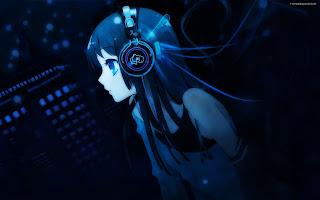 Headset Music Listening Girl Anime HD Wallpaper Desktop PC Background 1825