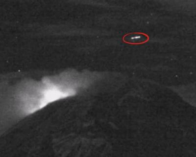 Cylinder UFO Above Popocatepetl 2015, UFO Sighting News