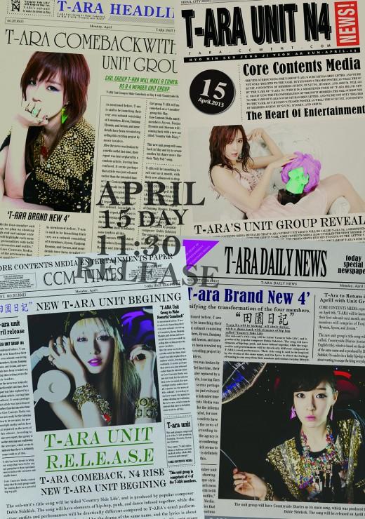 T-ara N4��n Teaserden �nce Posterleri Yay�nland� /// 14 Nisan 2013
