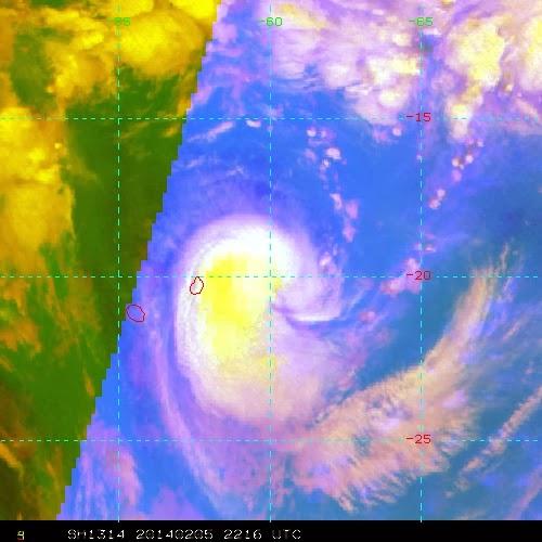 Image satellite de la tempête tropicale modérée Edilson