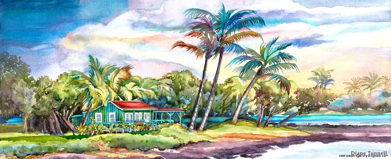 Hawaii Watercolor Artist Diane Tunnell  Paintings and Giclee Prints