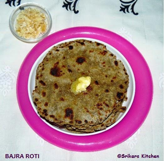 BAJRA ROTI - BAJRA BHAKRI ROTI - KAMBU ROTI- MILLET RECIPES