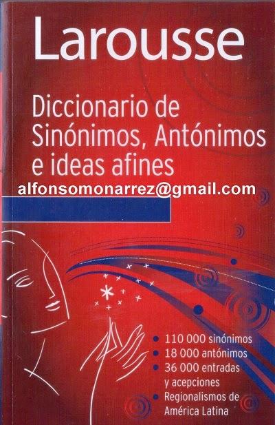 LIBROS EN DERECHO: DICCIONARIO DE SINÓNIMOS ANTONIMOS E ... - photo#13