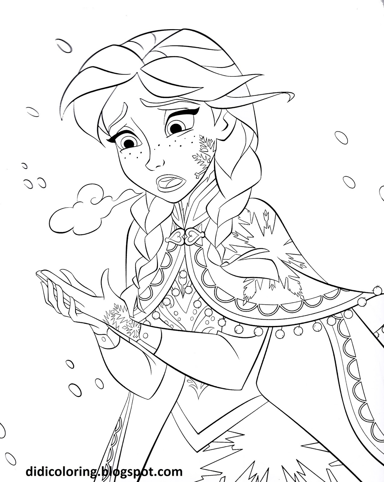 Download Princess Anna Walt Disney characters frozen movie coloring ...