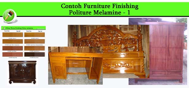 Contoh Furniture finishing Politure Melamine 1