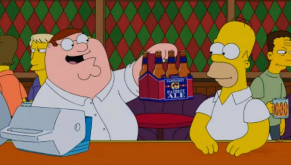 "Homer Simpson y Peter Griffin en ""The Simpsons Guy"""