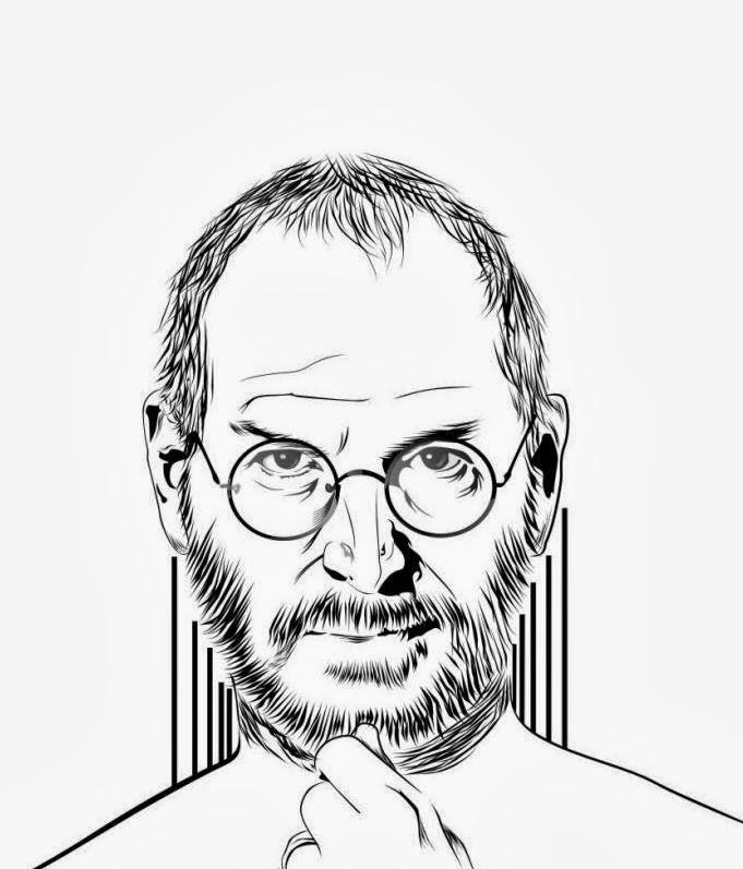 Line Art Wajah : Jasa gambar vector line art wajah