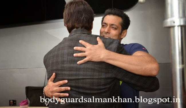 Salman Khan with Amitabh Bachhan