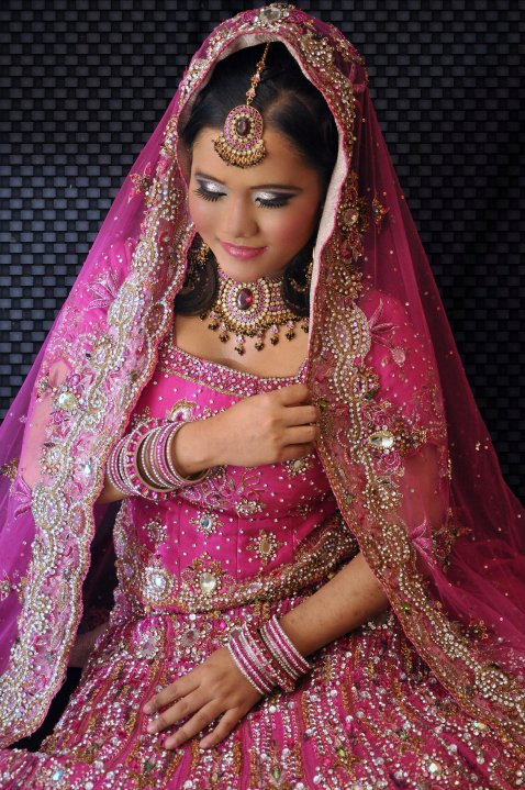 Pink indian wedding dresses she fashions for Indian wedding dresses for girls