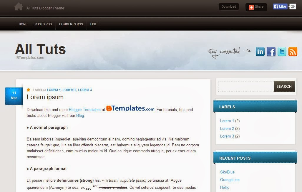 Download 3 Template Blogger Desain Bagus