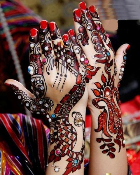Mehndi Designs For Hands Red : Eid hand mehndi designs for girls pk fashion style