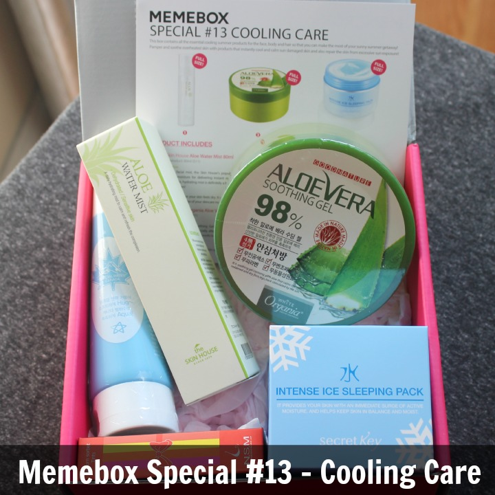 Memebox Special Edition #13: Cooling Care