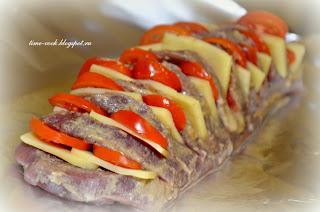 Мастерская на кухне: Говядина, запеченная с помидорами и сыром (гармошка)