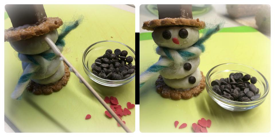 Keks-Schneemänner Arbeitsschritt - Ideenpiratin