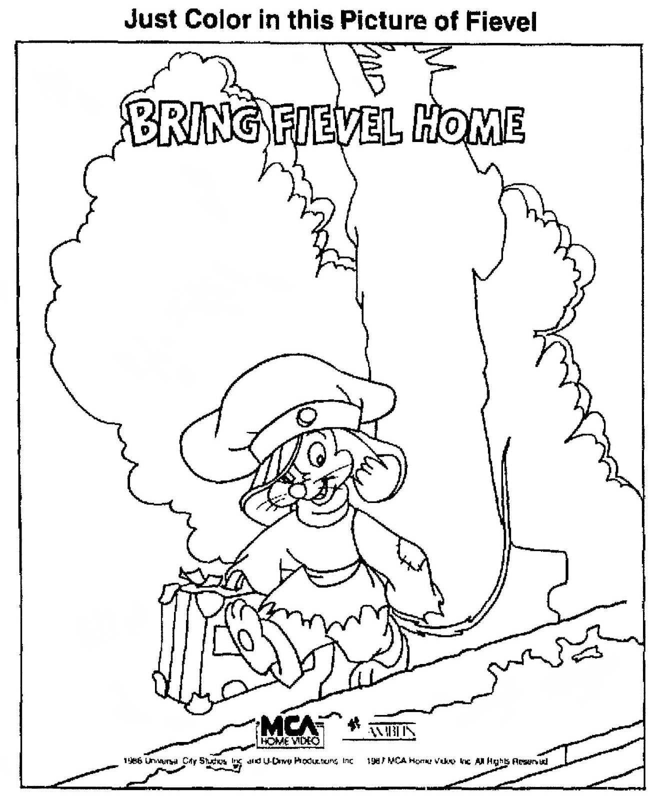 fievel coloring pages - photo#26