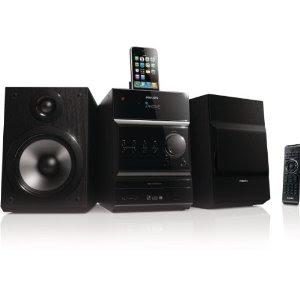 Kompaktanlage mit iPhone-/iPod-Dock Philips DCM 377 für 129,99 Euro bei Amazon