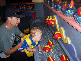 Gone Fishing! My son at 20 months and hubby exploring at the Monterey Bay Aquarium