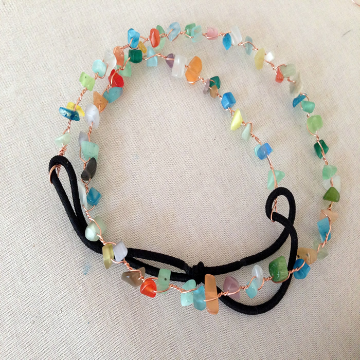 DIY: easy bead and wire headband free tutorial - Lisa Yang's Jewelry Blog
