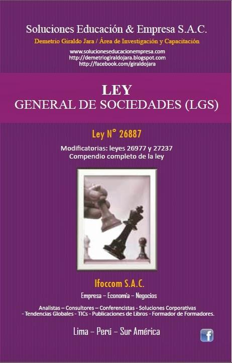 LIBRO COMPENDIO DE LA LEY GENERAL DE SOCIEDADES