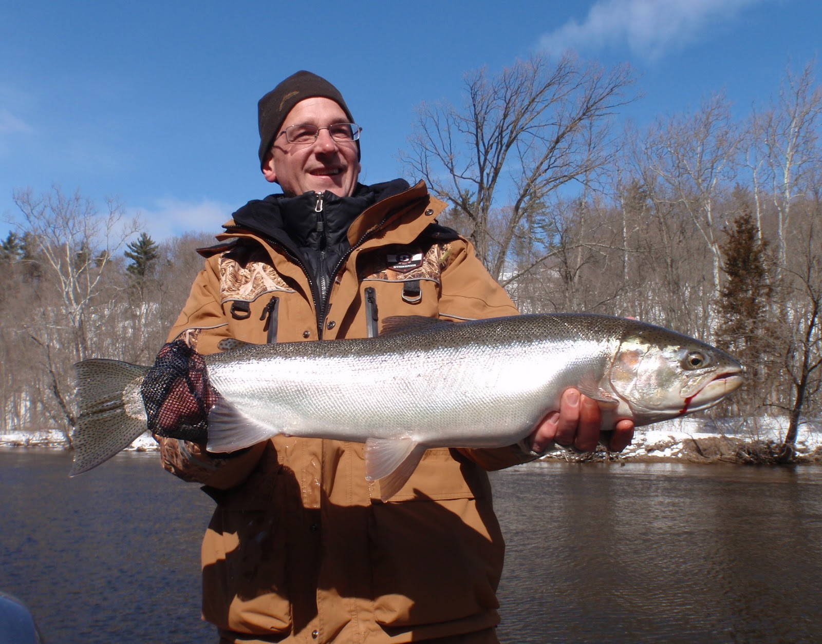 Michigan Steelhead Fishing At Its Best 3 3 13 Fly Fire