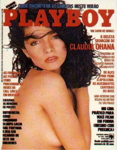 Confira as fotos da beleza selvagem, Cláudia Ohana, capa da Playboy de fevereiro de 1985!