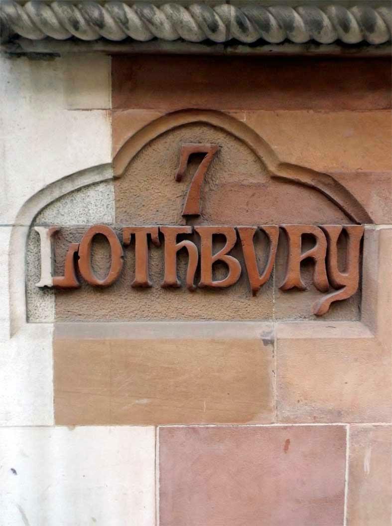 7 lothbury street sign