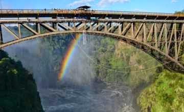 100-yr old Victoria Falls bridge