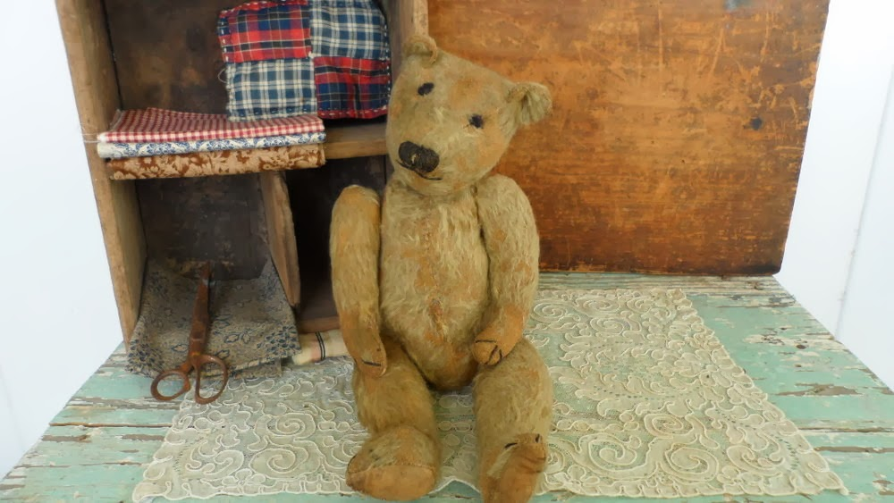 Mr. Berriepots a very early mohair teddy bear, fully jointed.