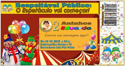 Convite aniversario infantil gratis - Patati Patata