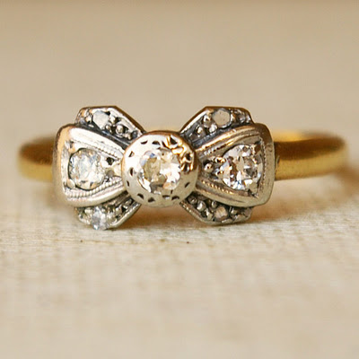 Sweet vintage engagement rings