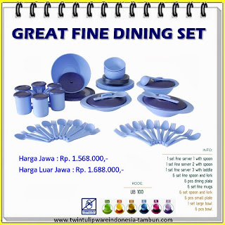 Great Fine Dining Set Tulipware 2013